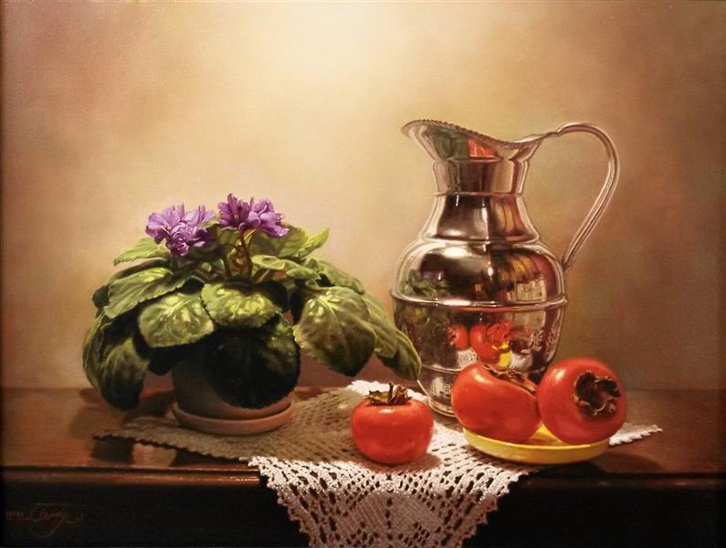 هنر نقاشی و گرافیک محفل نقاشی و گرافیک Ehsan Salavati Still life ( طبیعت بی جان ) Oil on canvas ( رنگ و روغن روی بوم ) 45*35 cm ( ٣٥*٤٥ سانتی متر ) 2012 ( ٢٠١٢ ) #احسان_صلواتی #رنگ_روغن #ehsansalavati #oil_on_canvas #یلدا