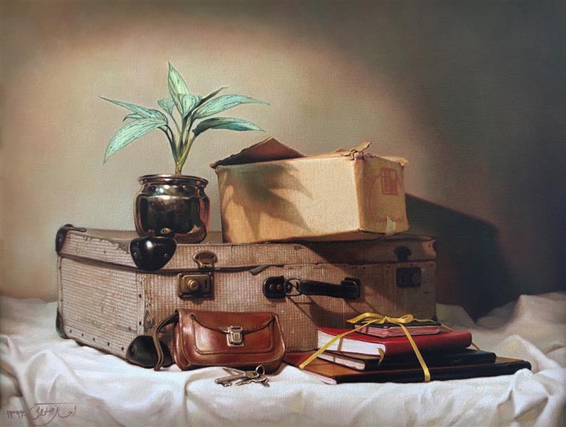 هنر نقاشی و گرافیک محفل نقاشی و گرافیک Ehsan Salavati  Still life ( طبیعت بی جان ) Oil on canvas ( رنگ و روغن روی بوم ) 45*35 cm ( ٣٥*٤٥ سانتی متر ) 2018 ( ٢٠١۸ )  #احسان_صلواتی #رنگ_روغن #ehsansalavati #oil_on_canvas