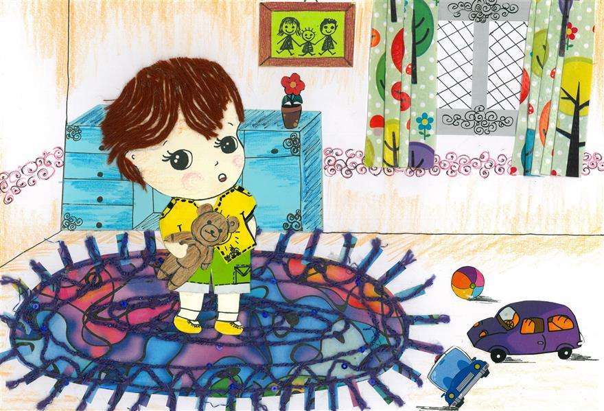 هنر نقاشی و گرافیک محفل نقاشی و گرافیک مریم حسن زاده #تصویرسازی کاراکتر کودک با تکنیک #کلاژ