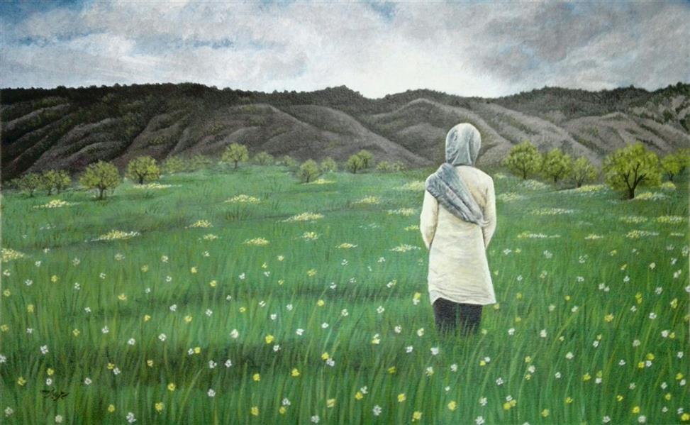 هنر نقاشی و گرافیک محفل نقاشی و گرافیک سید علی ریحانی شرق # دختر #منظره #دشت #افق #غروب #اکلریک تکنیک: اکلریک بر روی مقوا اندازه اثر: بدون قاب 25 در 43