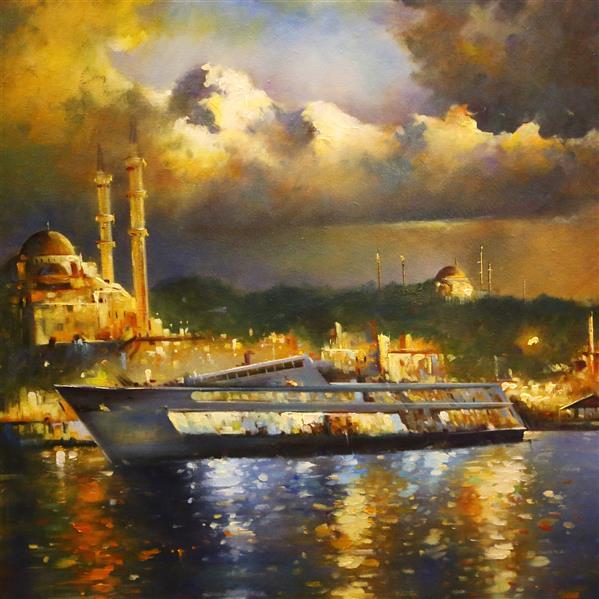 هنر نقاشی و گرافیک محفل نقاشی و گرافیک Shokoufeh ghorbani تابلو ۱۰۰*۷۰  رنگ روغن تکنیک کاردک استانبول