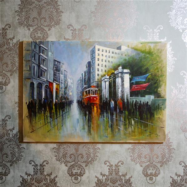 هنر نقاشی و گرافیک محفل نقاشی و گرافیک Shokoufeh ghorbani استانبول ۱۰۰*۸۰ تکنیک کاردک رنگ روغن