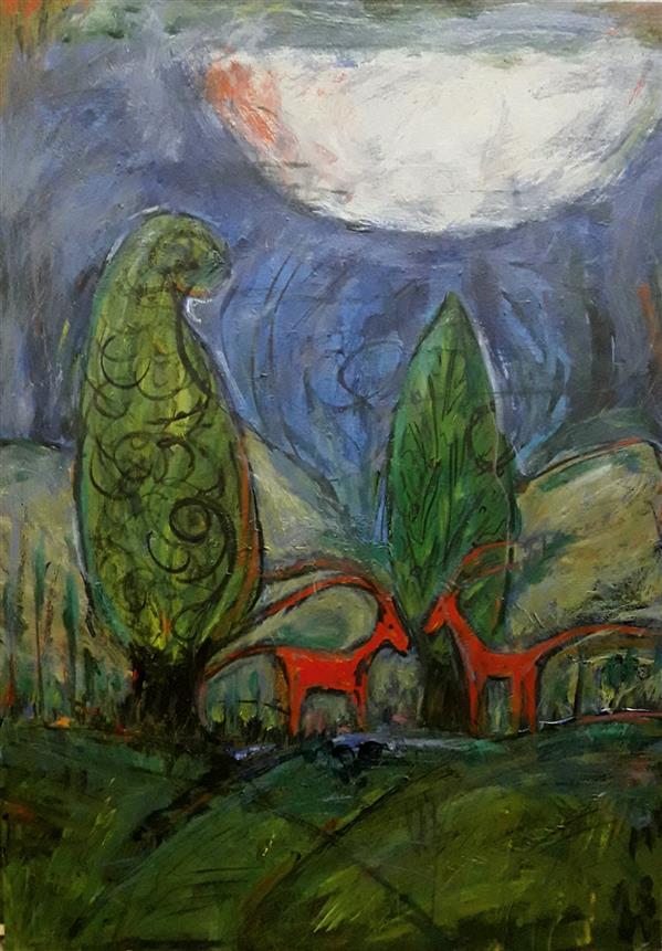 هنر نقاشی و گرافیک محفل نقاشی و گرافیک ღZahra-bagheri 50*70 رنگ آکریلیک (Acrylic)