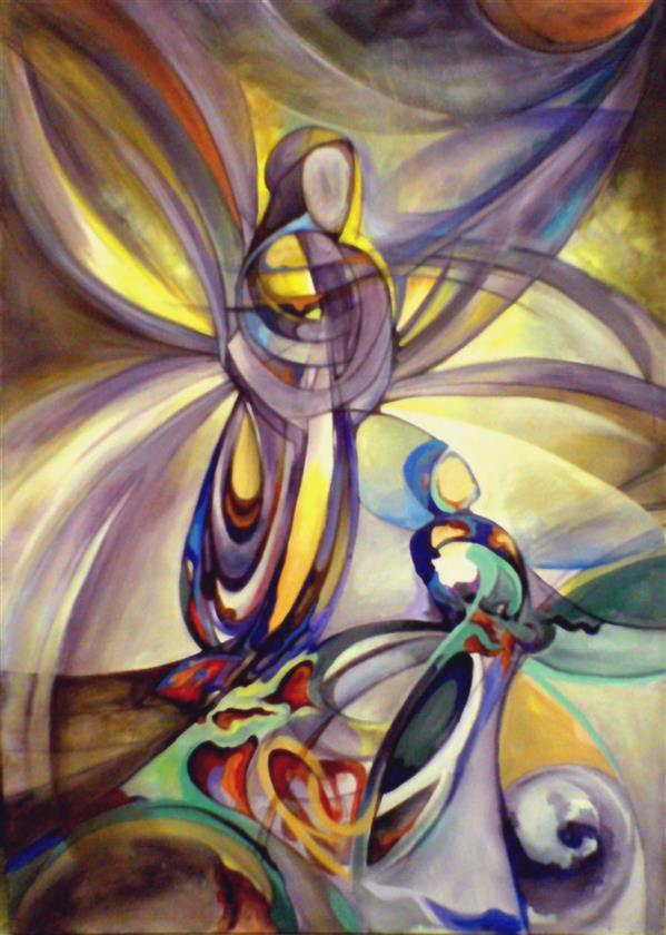 هنر نقاشی و گرافیک محفل نقاشی و گرافیک محمود خانی عنوان:آفرینش,آکرولیک_بوم دیپ_ 180×120cm_
