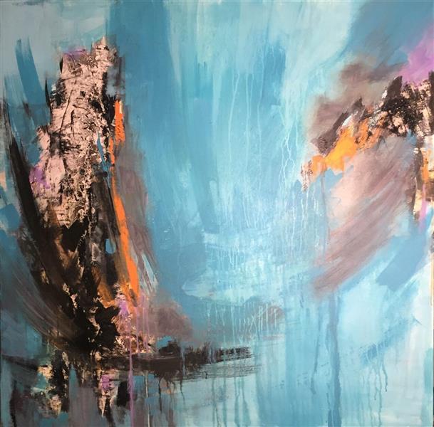 هنر نقاشی و گرافیک محفل نقاشی و گرافیک Farnoushghorbani cm100*100 #ecoline & acrylic on canvas