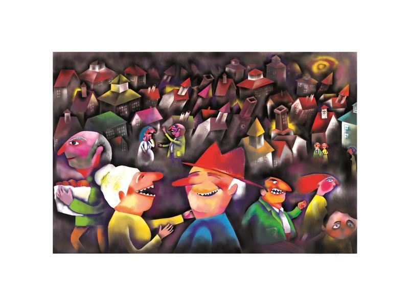 هنر نقاشی و گرافیک محفل نقاشی و گرافیک رویابیژنی  صد در صد و سی آکریلیک روی بوم