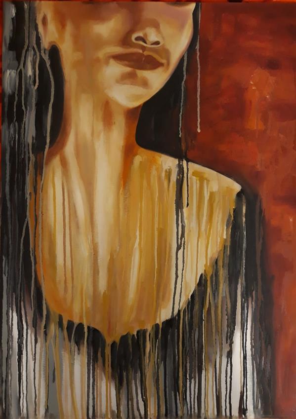 هنر نقاشی و گرافیک محفل نقاشی و گرافیک حسنلو #نقاشی #مدرن #فیگوراتیو #رنگ_روغن ابعاد 50×70 اثر#اورجینال