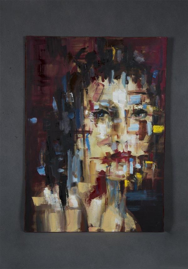 هنر نقاشی و گرافیک محفل نقاشی و گرافیک حسنلو نقاشی #رنگ_روغن #مدرن #فیگوراتیو #پرتره #آبستره ابعاد 50×70 اثر#اورجینال