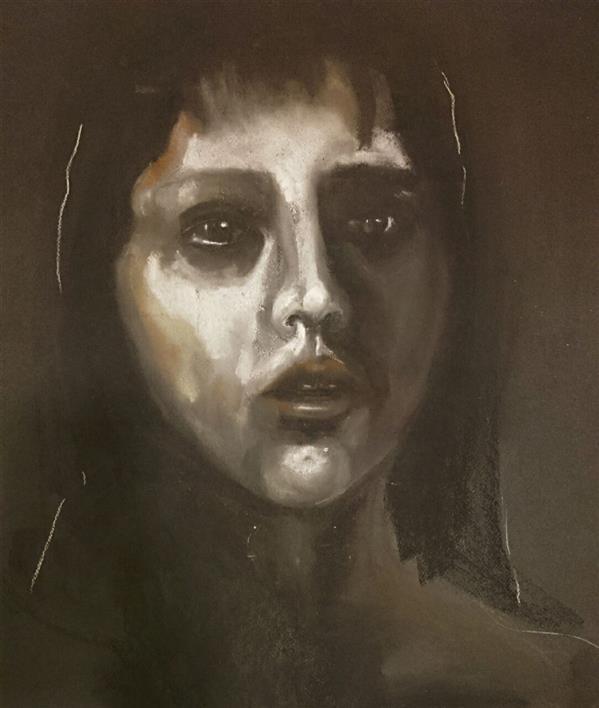 هنر نقاشی و گرافیک محفل نقاشی و گرافیک حسنلو #پرتره #پاستل_گچی، اثر#اورجینال