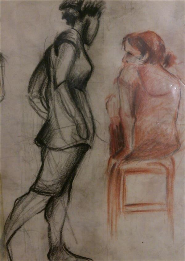 هنر نقاشی و گرافیک محفل نقاشی و گرافیک حسنلو #اسکیس یک دقیقه از مدل زنده #آناتومی #طراحی با #مداد_کنته