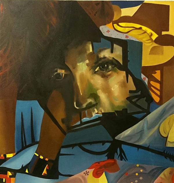 هنر نقاشی و گرافیک محفل نقاشی و گرافیک حسنلو #نقاشی #رنگ_روغن #کانسپچوال #پرتره ابعاد بوم 60×60 اورجینال