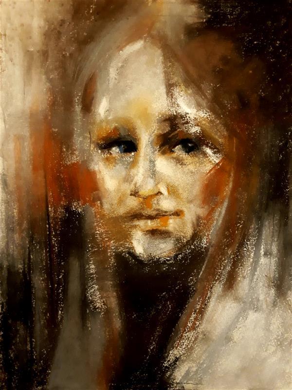 هنر نقاشی و گرافیک محفل نقاشی و گرافیک حسنلو #نقاشی #پرتره #پاستل گچی ، ابعاد : A3
