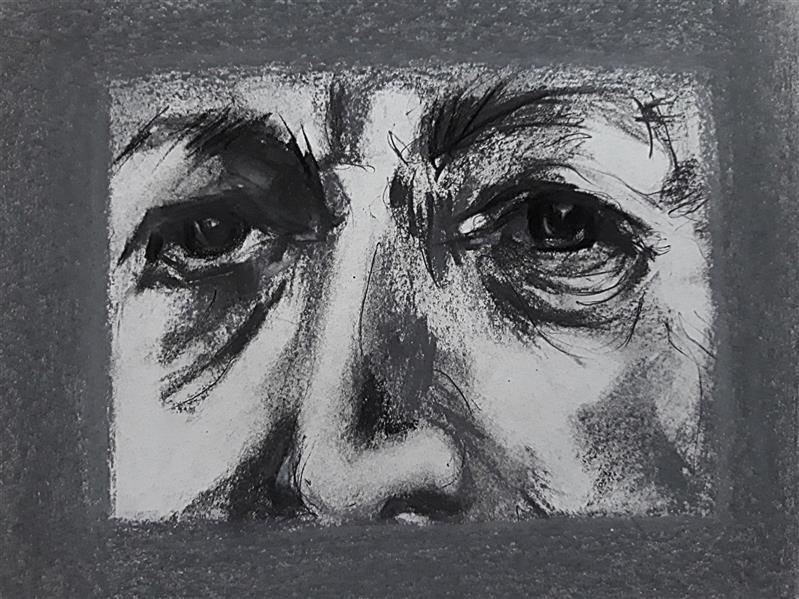 هنر نقاشی و گرافیک محفل نقاشی و گرافیک حسنلو #طراحی #چهره ، ذهنی  #قلم_فلزی #زغال #پاستل ، ابعاد: A4 ، اورجینال