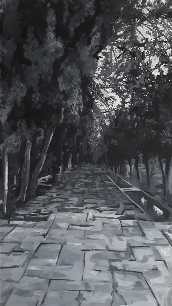 هنر نقاشی و گرافیک محفل نقاشی و گرافیک حسنلو #نقاشی از باغ ارم شیراز  #تکنیک_آلاپریما (نقاشی سریع کمتر از ۱ ساعت) #منظره #رنگ_روغن روی مقوا  ابعاد حدودا 34×60