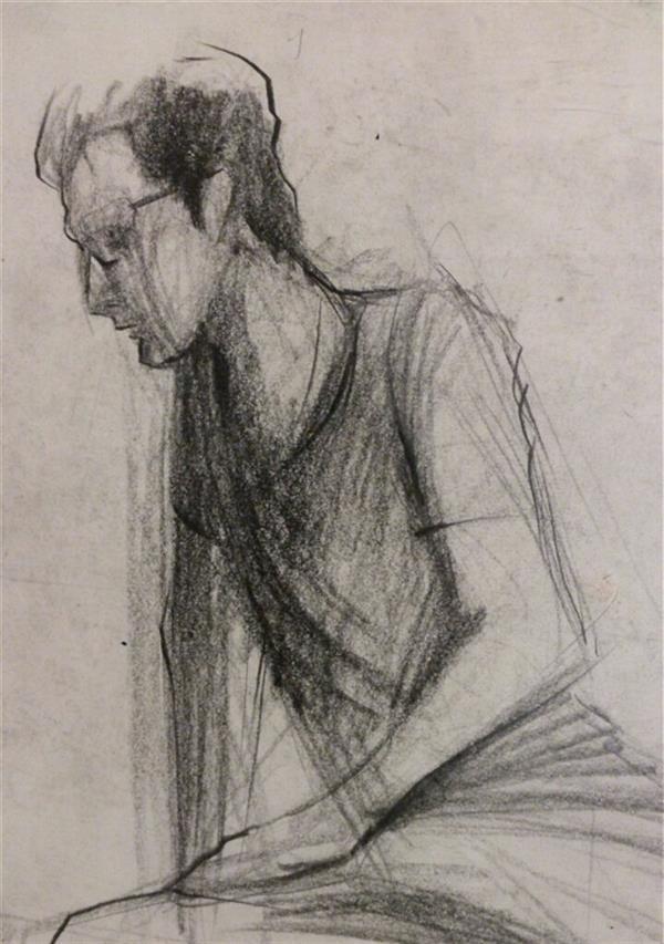 هنر نقاشی و گرافیک محفل نقاشی و گرافیک حسنلو #اسکیس یک دقیقه از مدل زنده #طراحی با #مداد