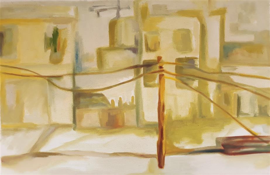 هنر نقاشی و گرافیک محفل نقاشی و گرافیک حسنلو عنوان: صبح یک روز تعطیل #نقاشی#رنگ_روغن #ابعاد۳۰×۴۵  اثر#اورجینال