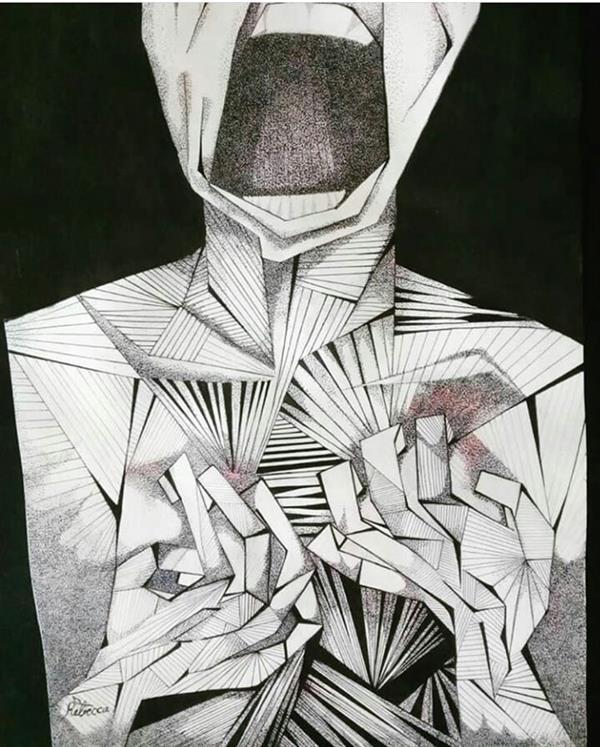 هنر نقاشی و گرافیک محفل نقاشی و گرافیک rebecca #surreal#illustrator#scream#art