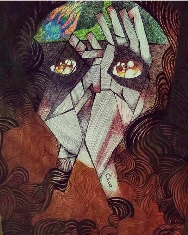 هنر نقاشی و گرافیک محفل نقاشی و گرافیک rebecca #scared#illustrator#art#