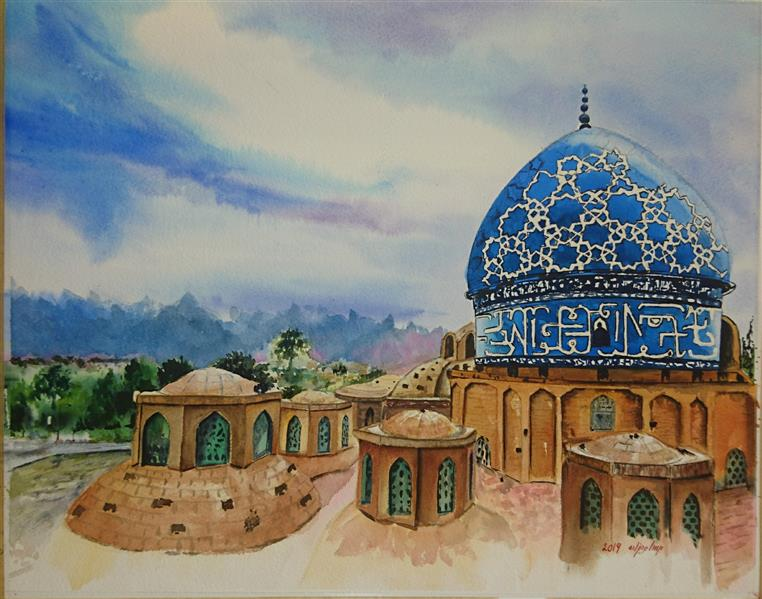 هنر نقاشی و گرافیک محفل نقاشی و گرافیک Mahsa mehdizadeh ۴۰*۶۰ #آبرنگ #کاشان #مهسامهدیزاده