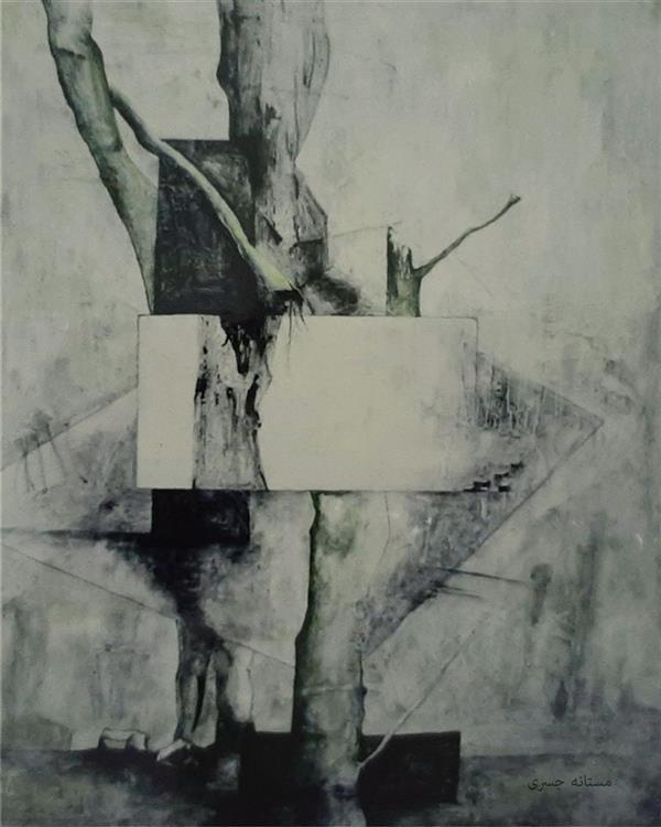 هنر نقاشی و گرافیک محفل نقاشی و گرافیک مستانه جسری آکریلیک روی بوم یک در دو