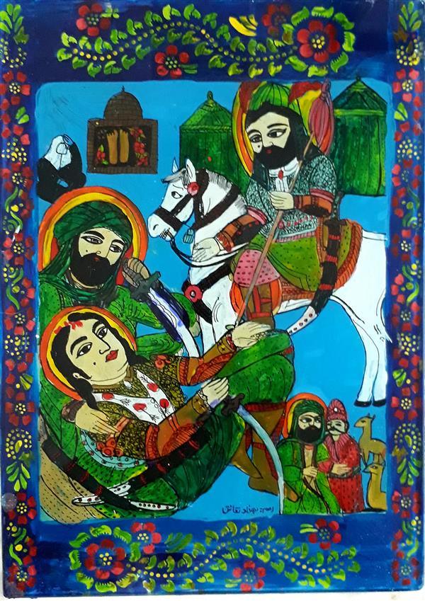 هنر نقاشی و گرافیک محفل نقاشی و گرافیک بهزاد نقاش نقاشی پشت شیشه ۲۰در۳۰