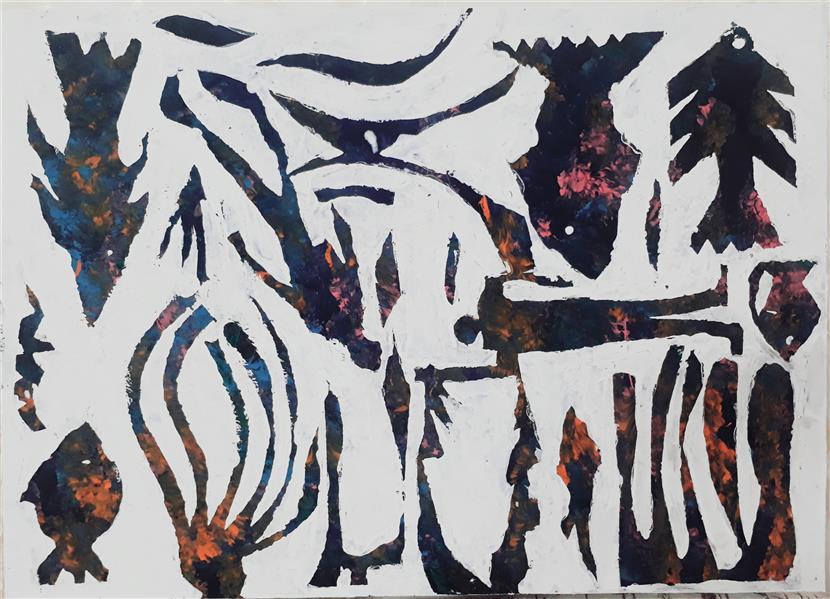 هنر نقاشی و گرافیک محفل نقاشی و گرافیک بهزاد نقاش اکریلیک روی بوم  ۵۰ در۷۰