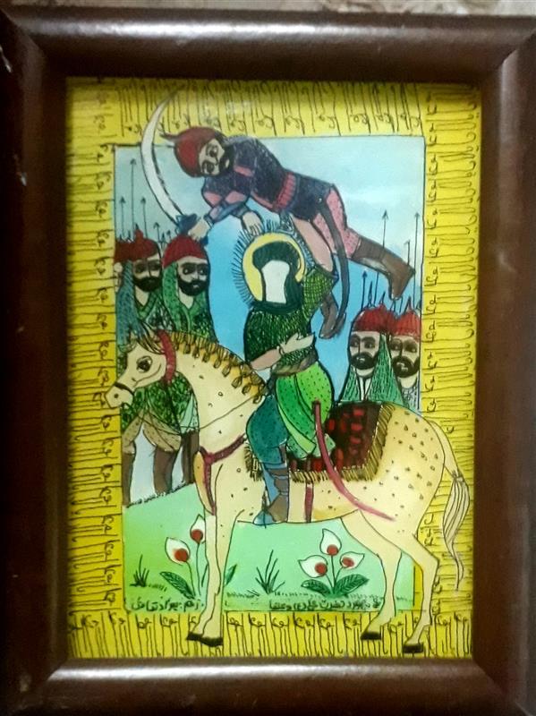 هنر نقاشی و گرافیک محفل نقاشی و گرافیک بهزاد نقاش نبرد   نقاشی پشت شیشه  ۱۳   ۱۸