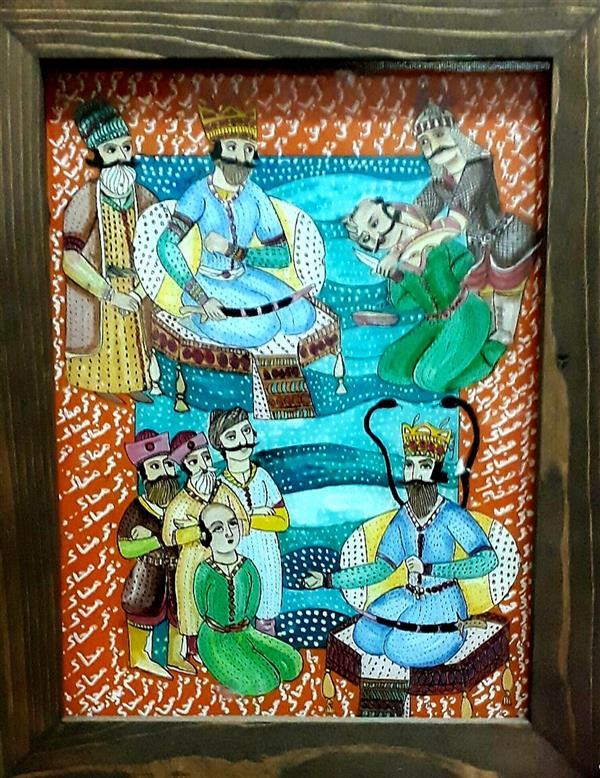 هنر نقاشی و گرافیک محفل نقاشی و گرافیک بهزاد نقاش ضحاک    نقاشی پشت شیشه  سی درچهل