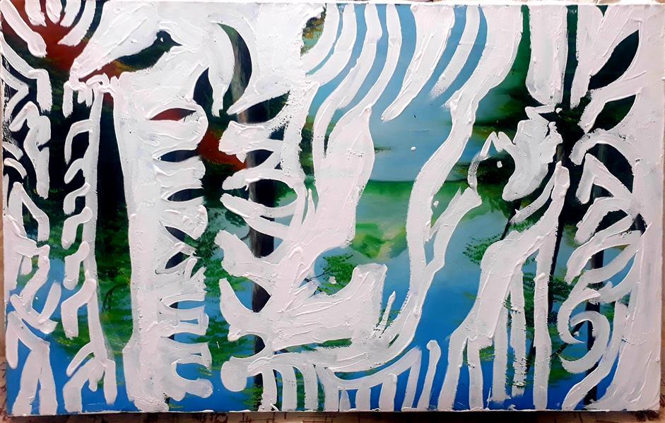 هنر نقاشی و گرافیک محفل نقاشی و گرافیک بهزاد نقاش اکریلیک روی بوم ۵۰در۸۰