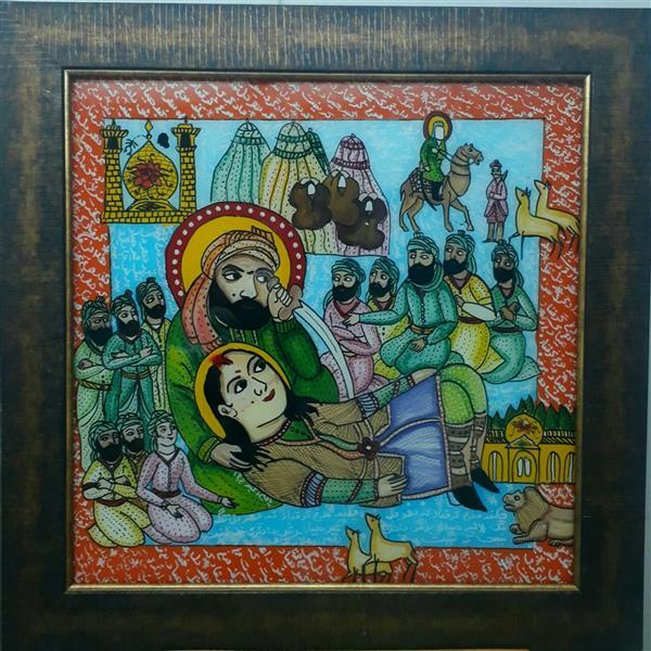 هنر نقاشی و گرافیک محفل نقاشی و گرافیک بهزاد نقاش شمایل  پشت شیشه ۵۰/۵۰