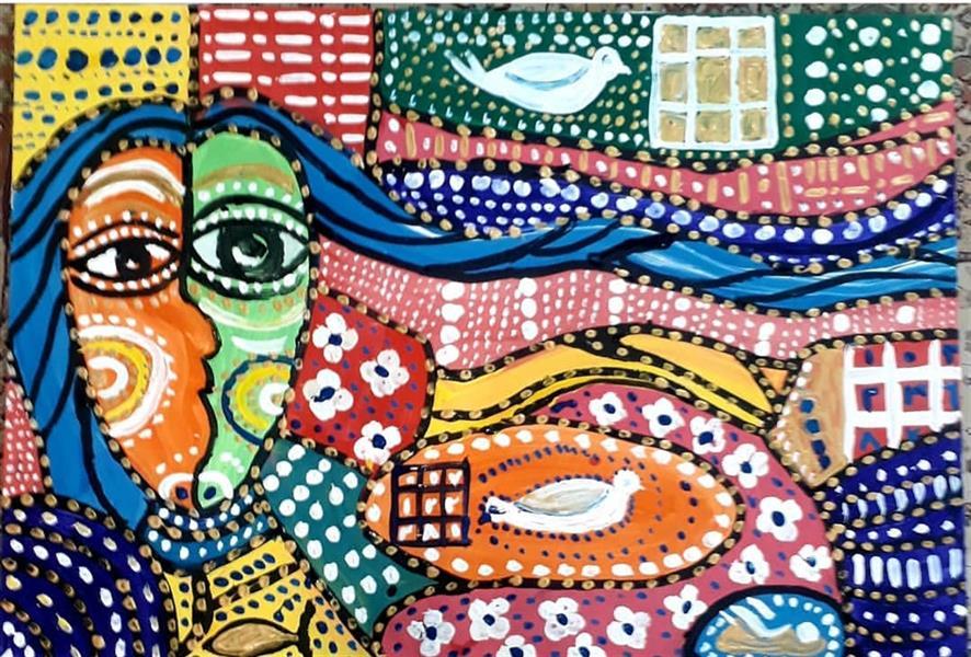 هنر نقاشی و گرافیک محفل نقاشی و گرافیک بهزاد نقاش نقاشی روی بوم  کوبیسم  ۷۰    ۱۱۰