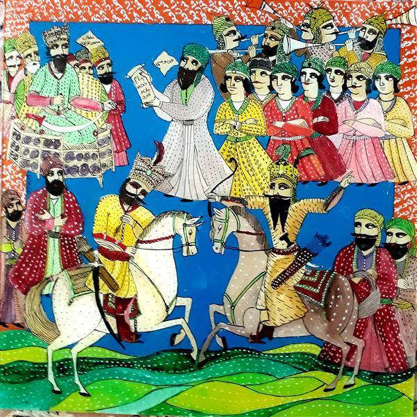 هنر نقاشی و گرافیک محفل نقاشی و گرافیک بهزاد نقاش نقاشی پشت شیشه ۵۰ در۵۰  رستم واسفندیاررویین تن