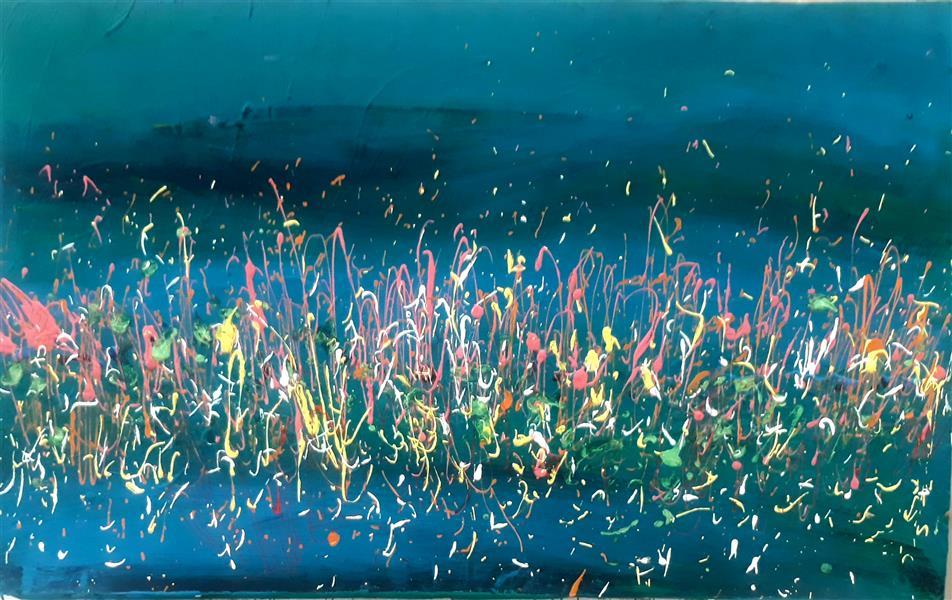 هنر نقاشی و گرافیک محفل نقاشی و گرافیک بهزاد نقاش ابستره  اکریلیک روی بوم ۵۰ در۸۰