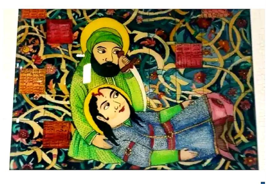 هنر نقاشی و گرافیک محفل نقاشی و گرافیک بهزاد نقاش نقاشی پشت شیشه ۴۰در۵۰