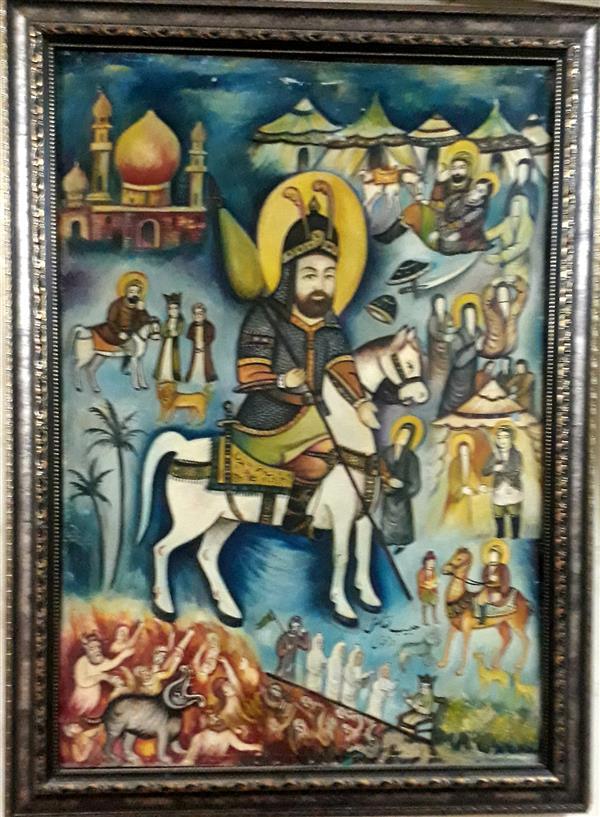 هنر نقاشی و گرافیک محفل نقاشی و گرافیک بهزاد نقاش شمایل روی بوم ۷۰ /۱۱۰