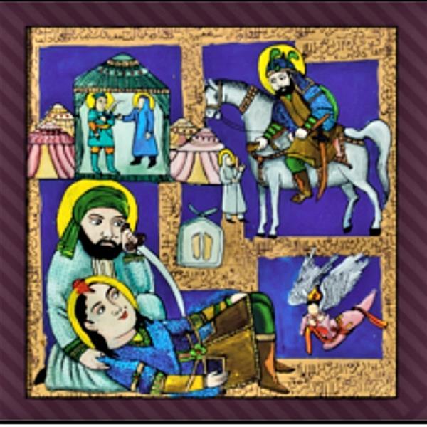هنر نقاشی و گرافیک محفل نقاشی و گرافیک بهزاد نقاش شمایل   ۴۰در۴۰نقاشی پشت شیشه