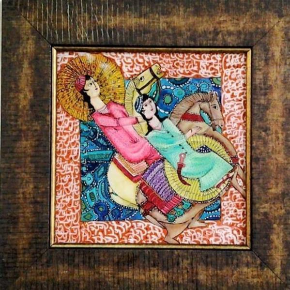 هنر نقاشی و گرافیک محفل نقاشی و گرافیک بهزاد نقاش عاشقانه نقاشی پشت شیشه