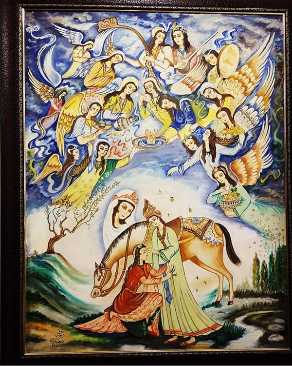 هنر نقاشی و گرافیک محفل نقاشی و گرافیک بهزاد نقاش رنگ روغن روی بوم   هفتاد در صد