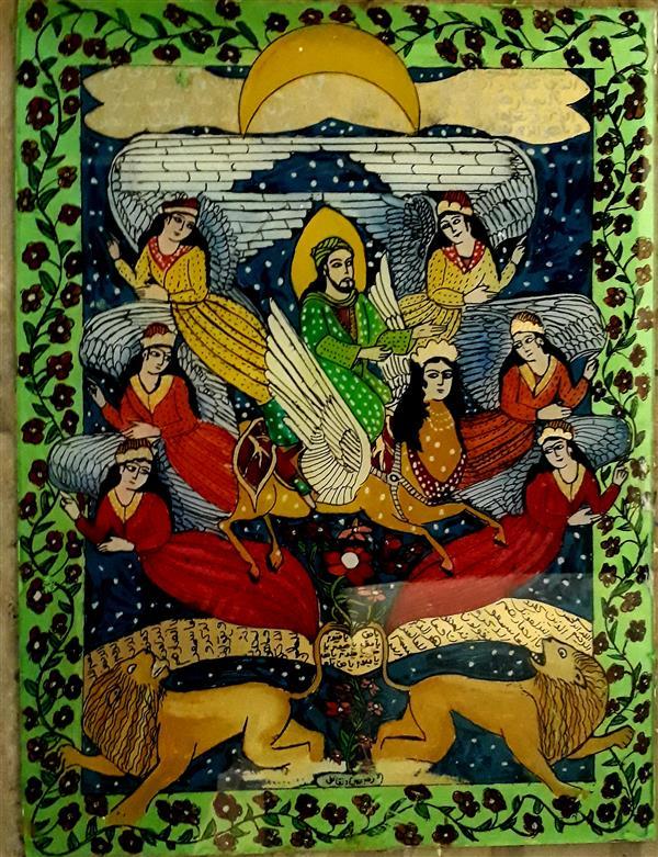 هنر نقاشی و گرافیک محفل نقاشی و گرافیک بهزاد نقاش نقاشی پشت شیشه  ۴۰در۳۰ معراج