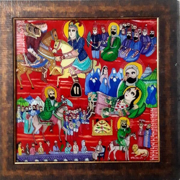 هنر نقاشی و گرافیک محفل نقاشی و گرافیک بهزاد نقاش اربعین    نقاشی پشت شیشه ۵۰/۵۰