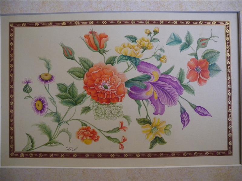هنر نقاشی و گرافیک محفل نقاشی و گرافیک آناهیتا زنوزی #گل و مرغ#آبرنگ#پرداز ابعاد:۱۸x ۲۹،۵