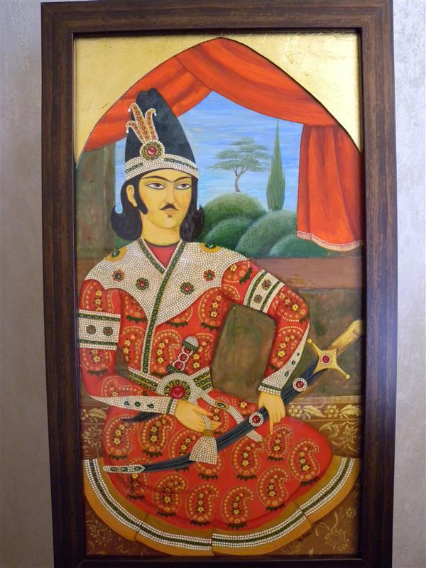 هنر نقاشی و گرافیک محفل نقاشی و گرافیک آناهیتا زنوزی ابعاد: ۵۲×۳۰ سانت (با قاب )  نقاشی لاکی شاهزاده# قاجار