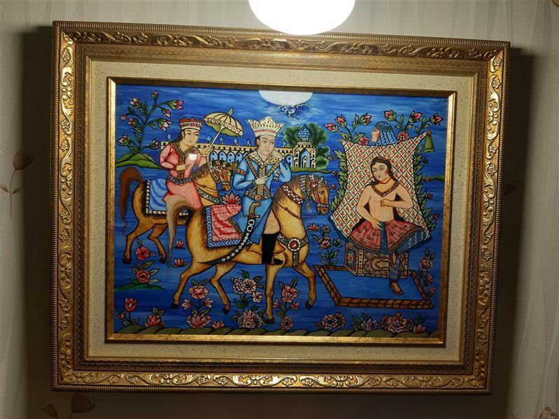 هنر نقاشی و گرافیک محفل نقاشی و گرافیک آناهیتا زنوزی #نقاشی پشت شیشه  ابعاد با قاب : ۴۸×۳۸،۵  تکنیک : رنگ روغن