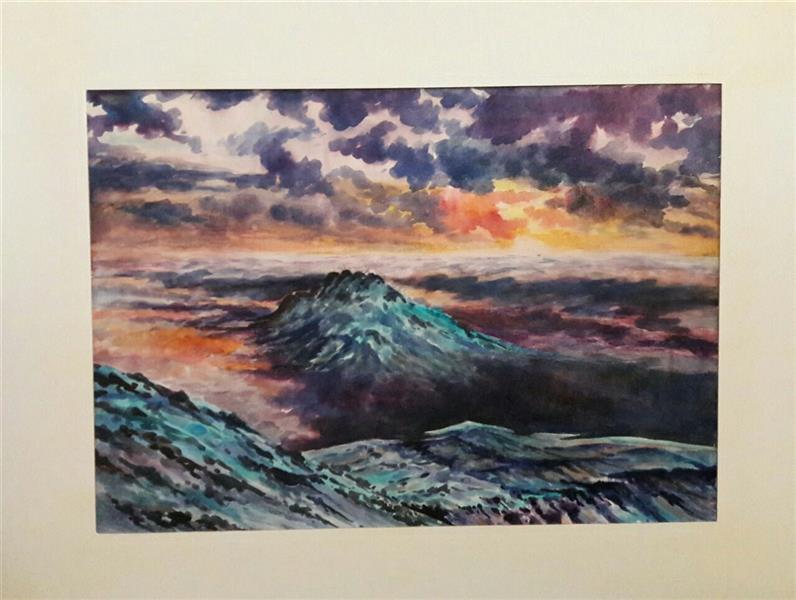 هنر نقاشی و گرافیک محفل نقاشی و گرافیک محمد فرید ابعاد بدون حاشیه وقاب 50×70 متریال اکولین اثر دارای قاب میباشد