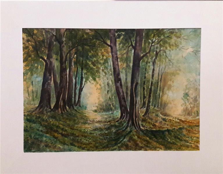 هنر نقاشی و گرافیک محفل نقاشی و گرافیک محمد فرید ابعاد بدون حاشیه وقاب50×70 متریال آبرنگ اثر دارای قاب میباشد