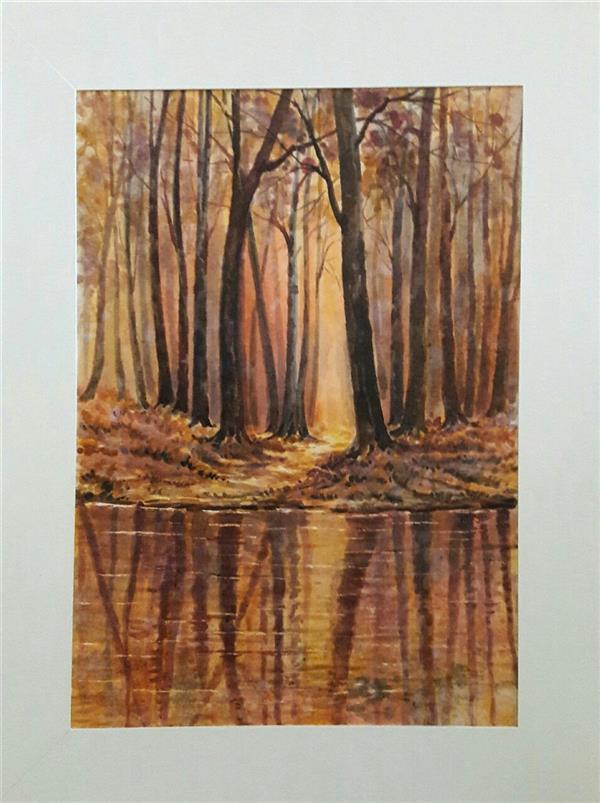 هنر نقاشی و گرافیک محفل نقاشی و گرافیک محمد فرید ابعاد بدون حاشیه وقاب50×70 متریالاکولین وآبرنگ اثر دارای قاب میباشد