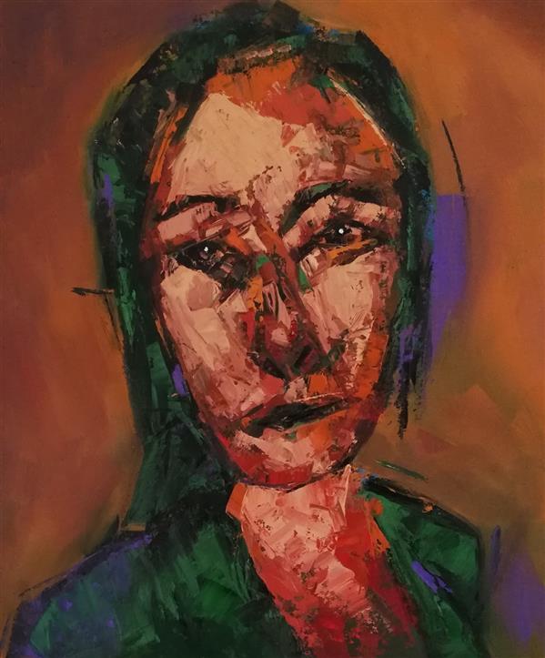هنر نقاشی و گرافیک محفل نقاشی و گرافیک کسری منعمی رنگ روغن روی بوم (کاردک)
