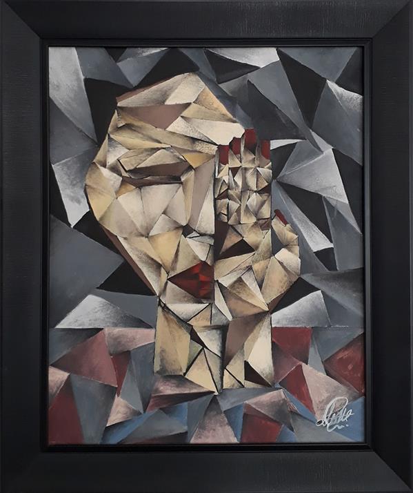 هنر نقاشی و گرافیک محفل نقاشی و گرافیک Mehrdad khodashenas نام اثر : شکستگی های ذهن من تکنیک : رنگ روغن سبک : کوبیسم ابعاد 40x50 cm #mehrdad_khodashenas
