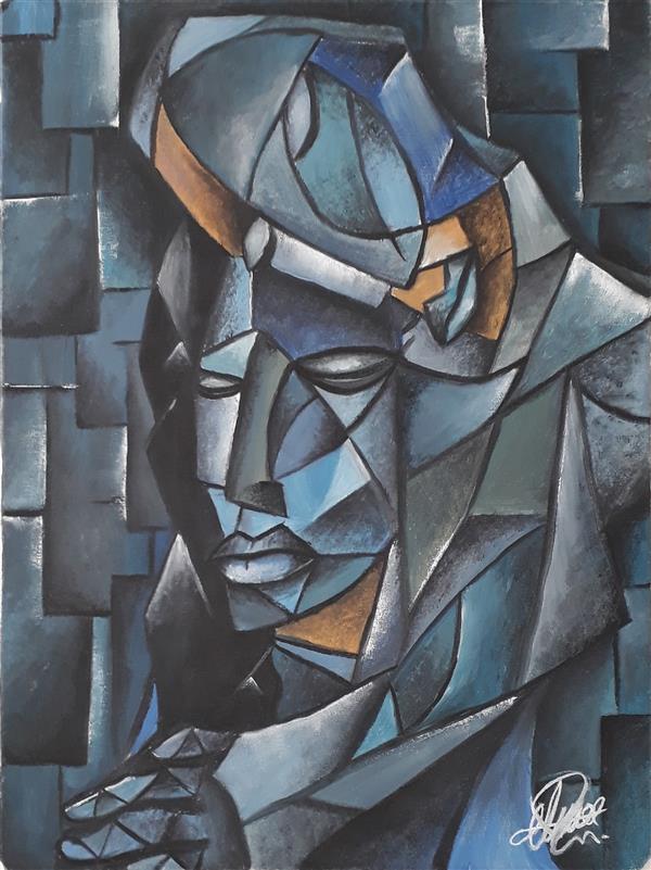 هنر نقاشی و گرافیک محفل نقاشی و گرافیک Mehrdad khodashenas تکنیک : رنگ روغن سبک : کوبیسم اندازه : ۳۰ × ۴۰ #مهرداد_خداشناس #هنر #نقاشی #رنگ_روغن