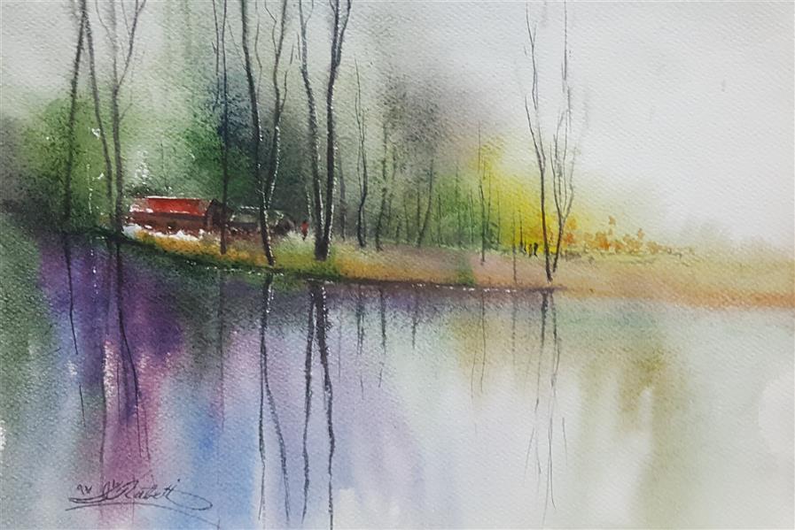 هنر نقاشی و گرافیک محفل نقاشی و گرافیک Abdolreza Rabeti  این آبرنگ بصورت ذهنی و بالبداهه در سایز ۲۵ × ۳۵ کار شده است .